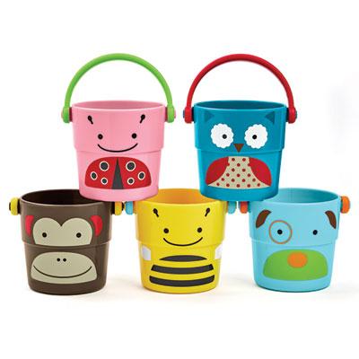 Jouets de bain bébé 5 tasses zoo Skip hop