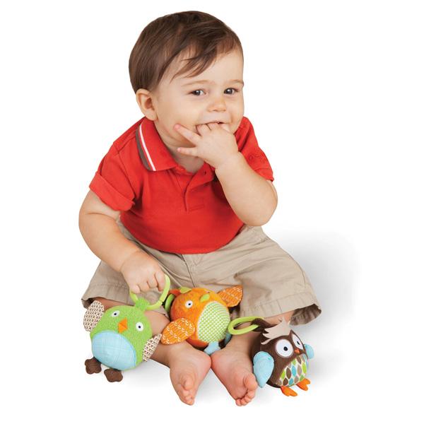 Jouet d'éveil bébé trio de balles chouette Skip hop