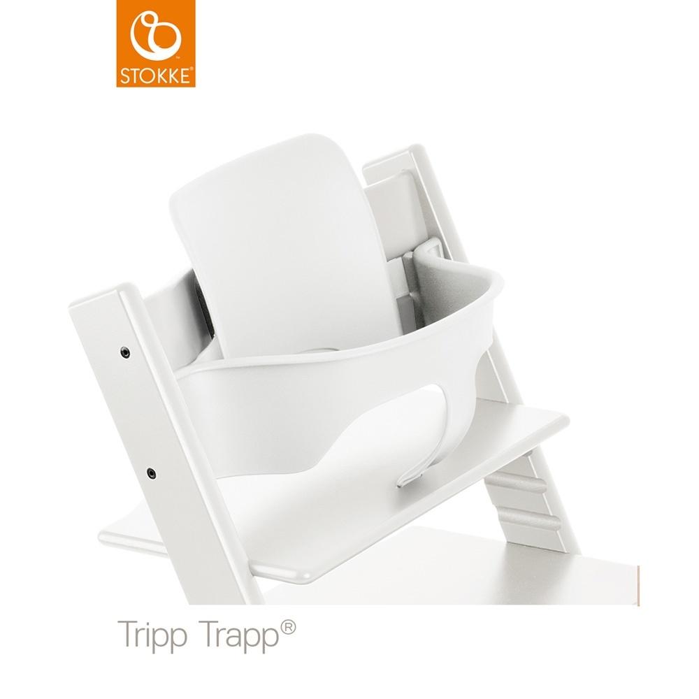 Fauteuil b b tripp trapp baby set blanc de stokke sur for Fauteuil auto bebe