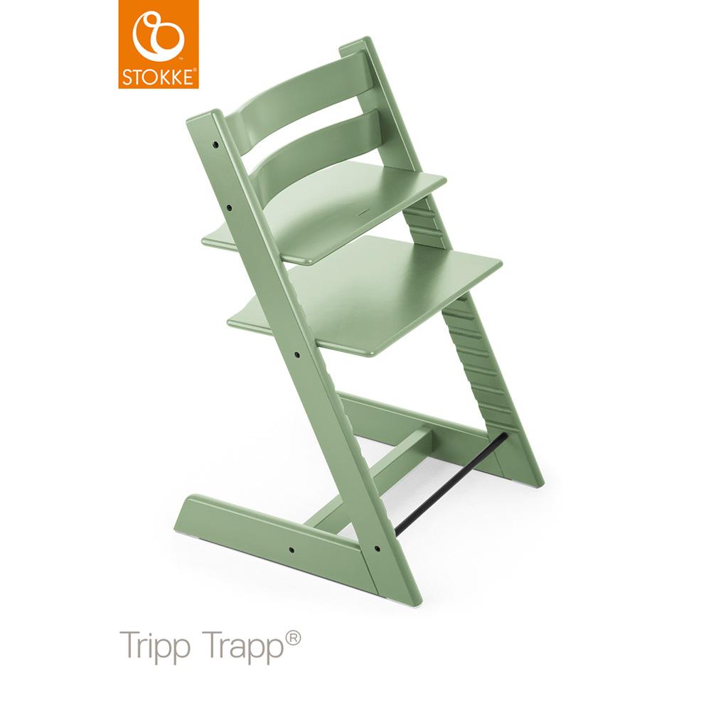 chaise haute bebe evolutive tripp trapp vert mousse de