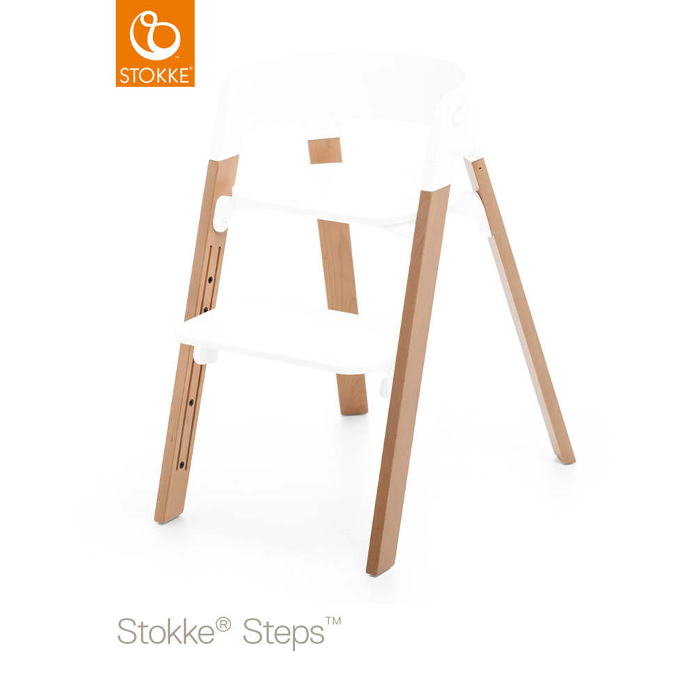 pieds pour la chaise haute steps h tre naturel de stokke sur allob b. Black Bedroom Furniture Sets. Home Design Ideas