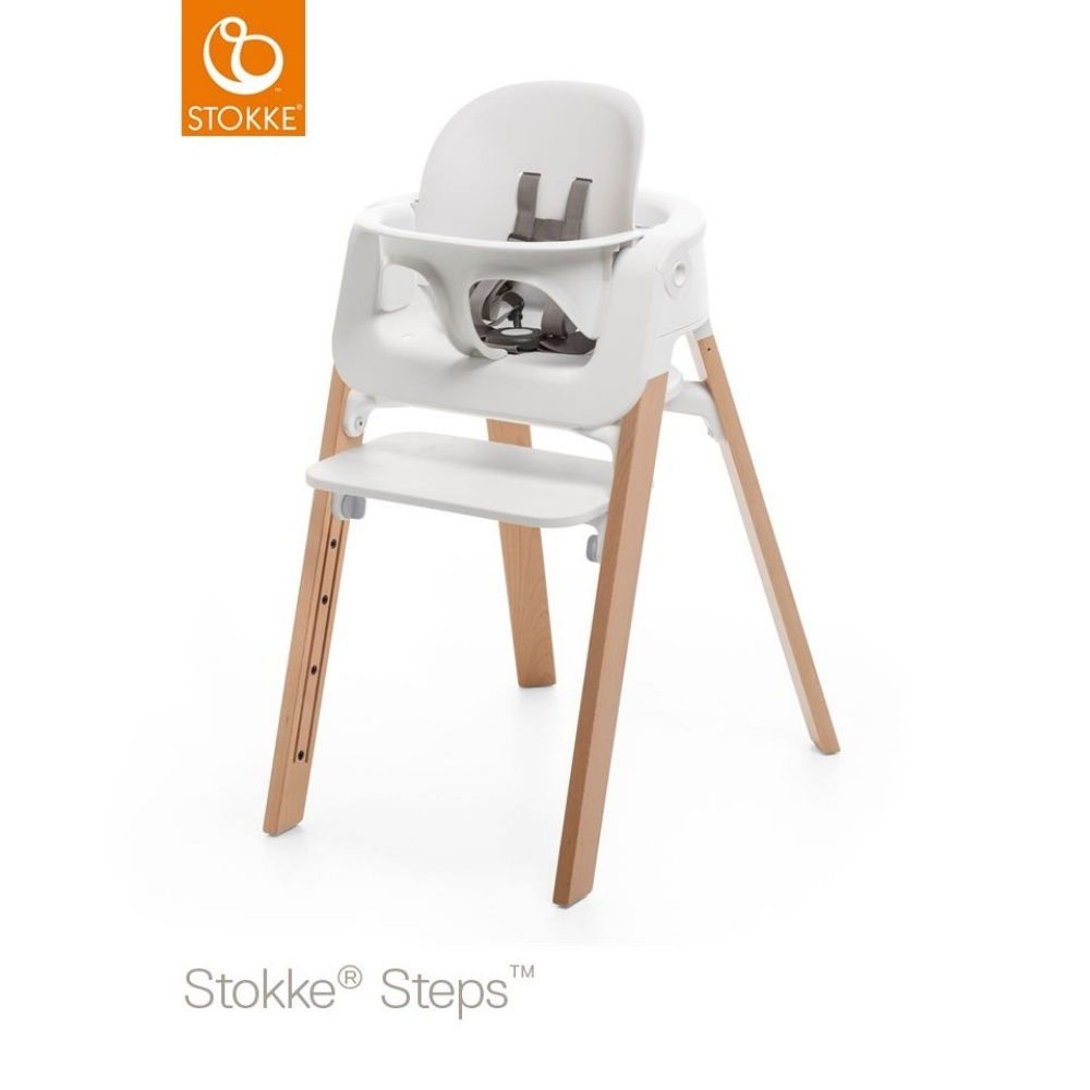si ge stokke steps baby set blanc de stokke sur allob b. Black Bedroom Furniture Sets. Home Design Ideas