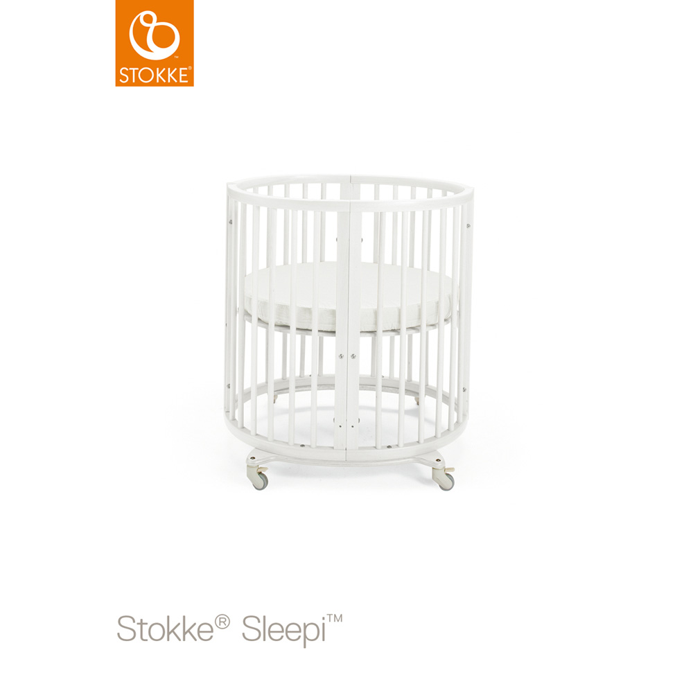 lit b b sleepi mini blanc de stokke sur allob b. Black Bedroom Furniture Sets. Home Design Ideas