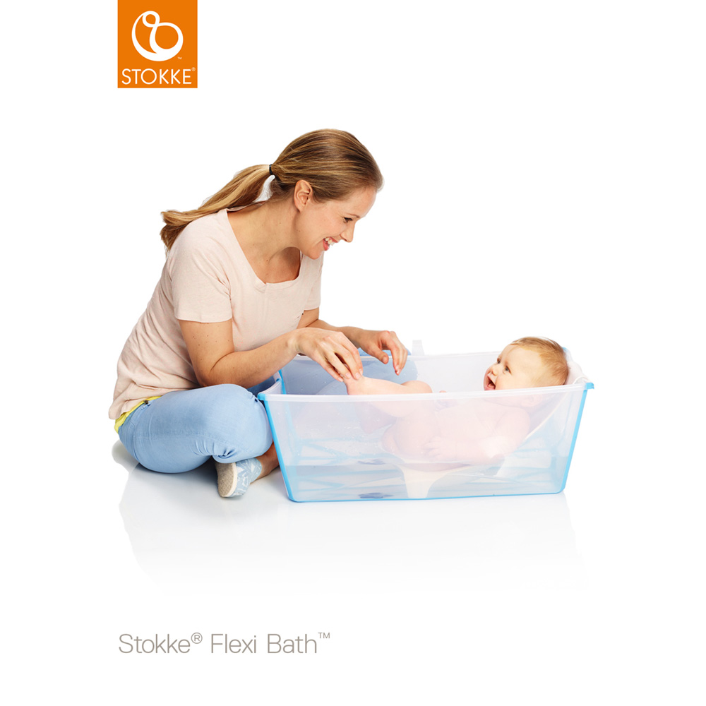 baignoire b b flexibath transparent de stokke sur allob b. Black Bedroom Furniture Sets. Home Design Ideas