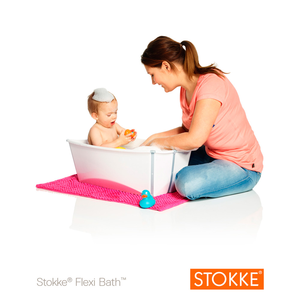 baignoire b b flexibath blanc de stokke sur allob b. Black Bedroom Furniture Sets. Home Design Ideas