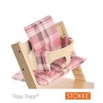 Coussin fauteuil bébé tartan rose tripp trapp pas cher