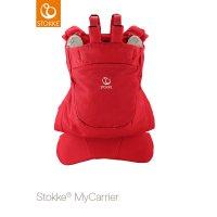 Porte bébé mycarrier ventral et dorsal rouge