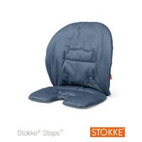 Coussin fauteuil bébé steps bleu