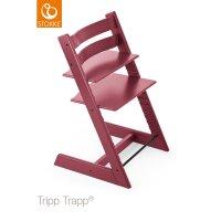 Chaise haute bébé évolutive tripp trapp rose bruyère