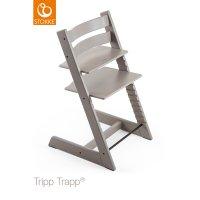 Chaise haute chêne bébé évolutive tripp trapp gris pale