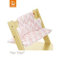 Coussin fauteuil bébé tripp trapp chevrons rose