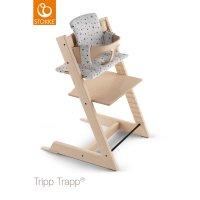 Coussin coton bio fauteuil bébé tripp trapp montagne blanche