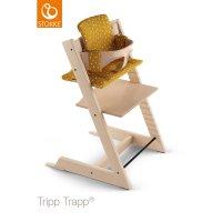 Coussin coton bio fauteuil bébé tripp trapp ocre abeille