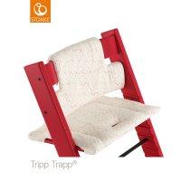 Coussin coton bio fauteuil bébé tripp trapp rouge géometrique