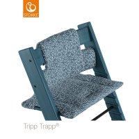 Coussin coton bio fauteuil bébé tripp trapp fleur de jardin