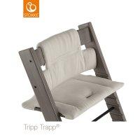Coussin coton bio fauteuil bébé tripp trapp gris intemporel