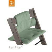 Coussin coton bio fauteuil bébé tripp trapp vert intemporel