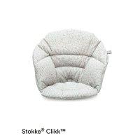 Coussin coton bio fauteuil bébé clikk gris saupoudrés