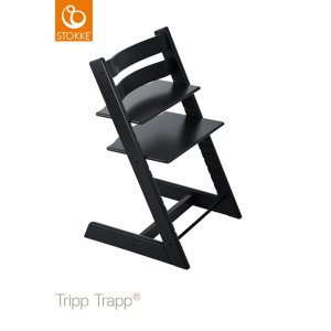 chaise haute b b volutive tripp trapp noire de stokke en vente chez cdm. Black Bedroom Furniture Sets. Home Design Ideas