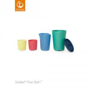 Jouets de bain bébé tasses flexibath