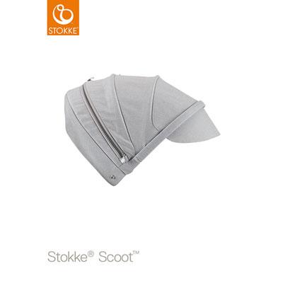 Capote pour poussette scoot gris mélange Stokke