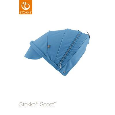 Capote pour poussette scoot bleu Stokke