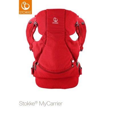 Porte bébé mycarrier ventral et dorsal rouge Stokke