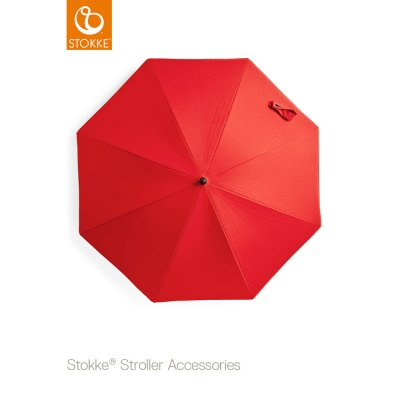 Ombrelle poussette rouge Stokke