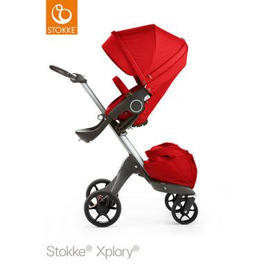 Poussette 4 roues xplory rouge Stokke