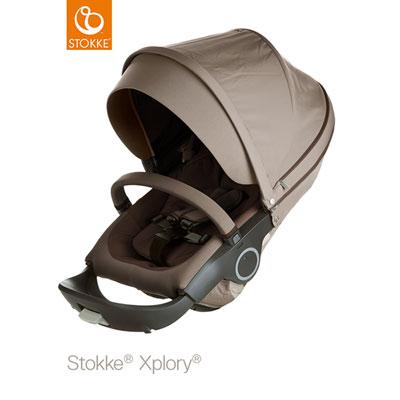 Poussette 4 roues xplory marron Stokke