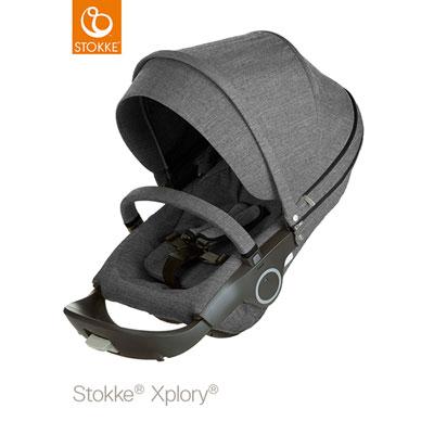 Poussette 4 roues xplory noir mélange Stokke