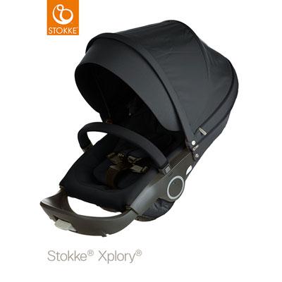 Poussette 4 roues xplory noir Stokke