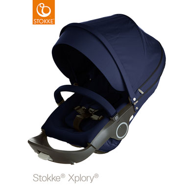 Poussette 4 roues xplory bleu profond Stokke