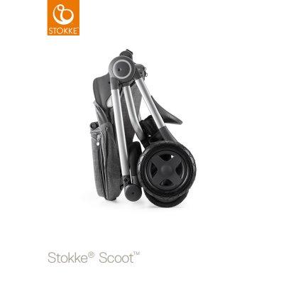 Poussette 4 roues scoot noir mélange Stokke