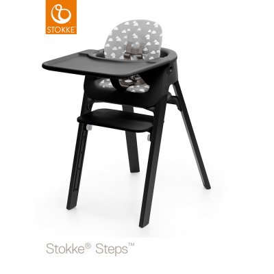 tablette chaise steps noir de stokke sur allob b. Black Bedroom Furniture Sets. Home Design Ideas
