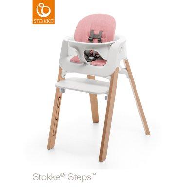 Coussin fauteuil bébé steps rose Stokke