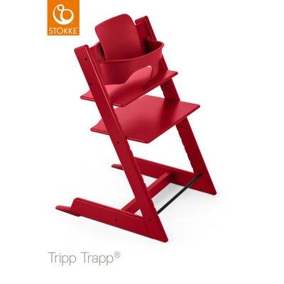 Fauteuil bébé tripp trapp baby set rouge Stokke