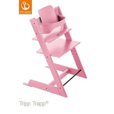 Fauteuil bébé tripp trapp baby set rose pale Stokke