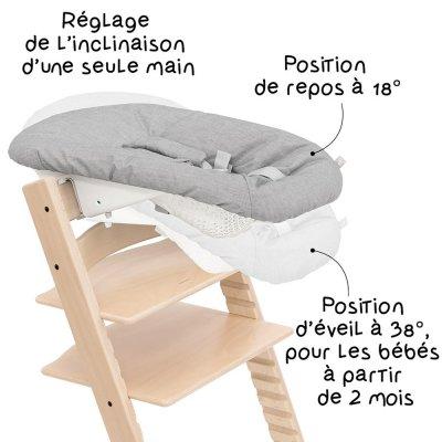 Siège newborn set gris pour chaise tripp trapp Stokke