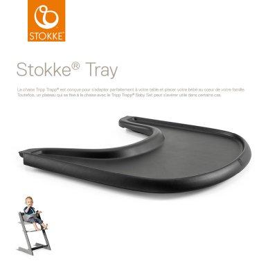 Plateau tray pour chaise haute tripp trapp noir Stokke