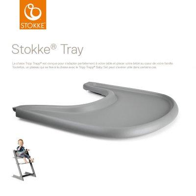 Plateau tray pour chaise haute tripp trapp gris Stokke