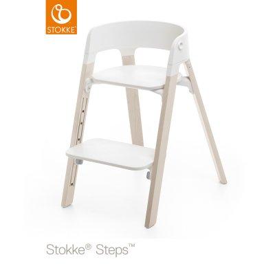 Assise pour la chaise haute steps blanc Stokke
