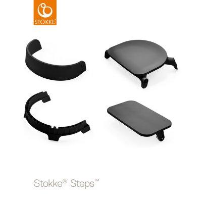 Assise pour la chaise haute steps noir Stokke
