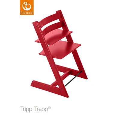 Chaise haute bébé évolutive tripp trapp rouge Stokke