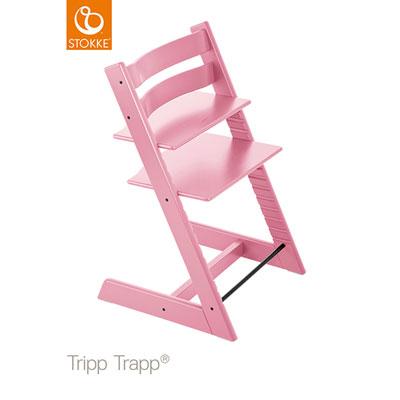 Chaise haute bébé évolutive tripp trapp rose pale Stokke