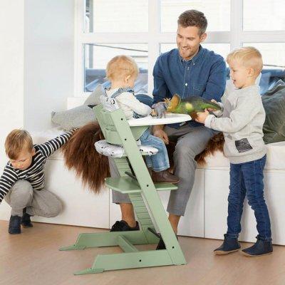 Chaise haute bébé évolutive tripp trapp vert mousse Stokke