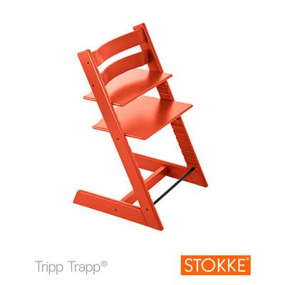 Chaise haute bébé évolutive tripp trapp lava orange Stokke