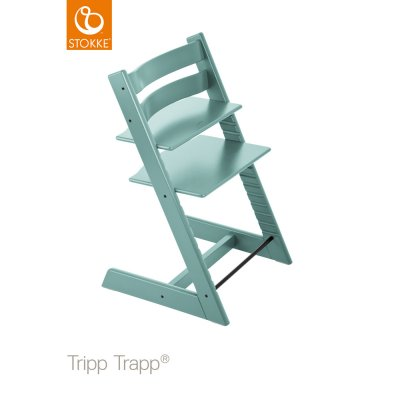Chaise haute bébé évolutive tripp trapp bleu aqua Stokke