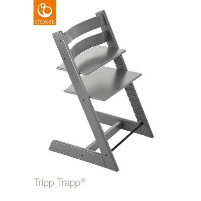 Chaise haute bébé évolutive tripp trapp gris tempête Stokke