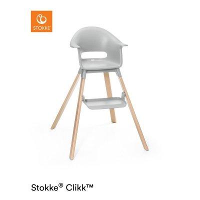 Chaise haute bébé clikk gris nuage Stokke